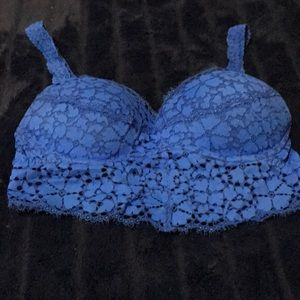 VS Pink. Bright Blue Bralette